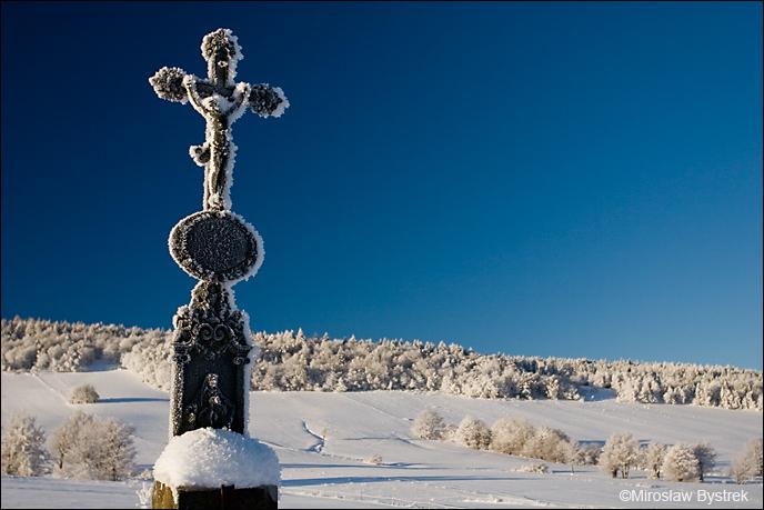 Na cmentarzu przy cerkwi w Koniecznej.