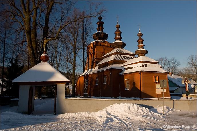 Wysowa cerkiew widok ogólny