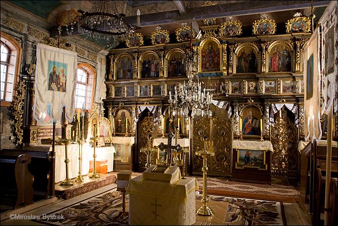 Wysowa wnętrze cerkwi.