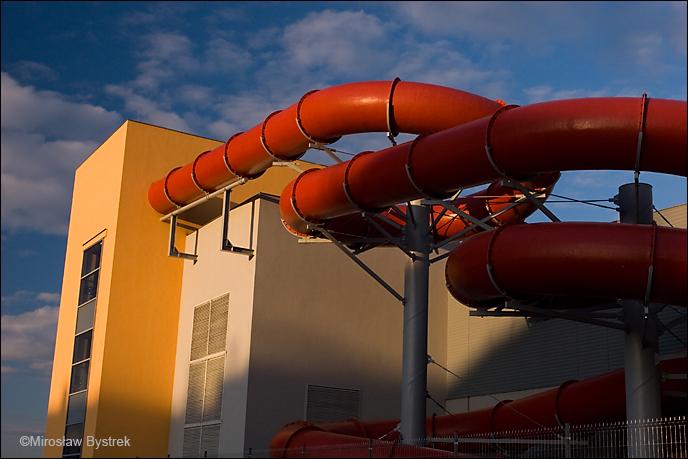 nowy basen w Dębicy - rura
