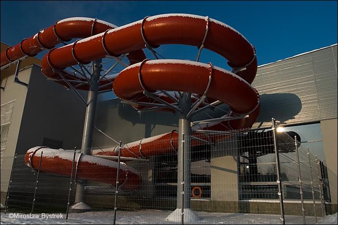 nowy basen w Dębicy - zjeżdżalnia