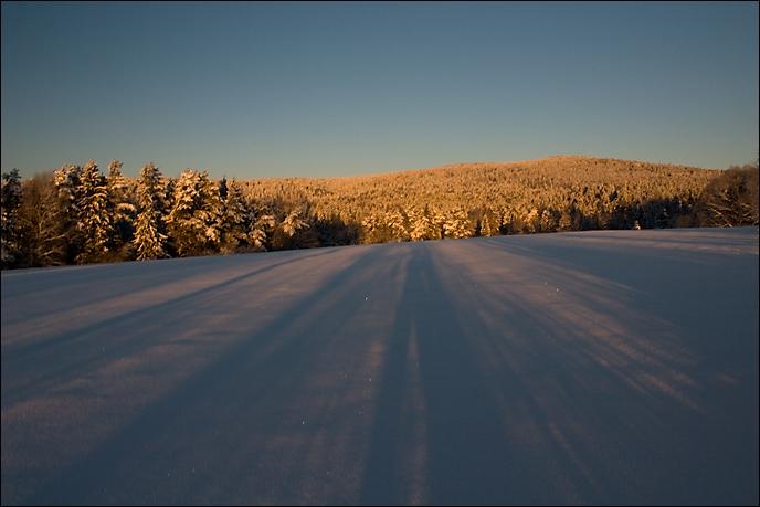 Zimowy krajobraz Beskidu Niskiego - okolice Gładyszowa.
