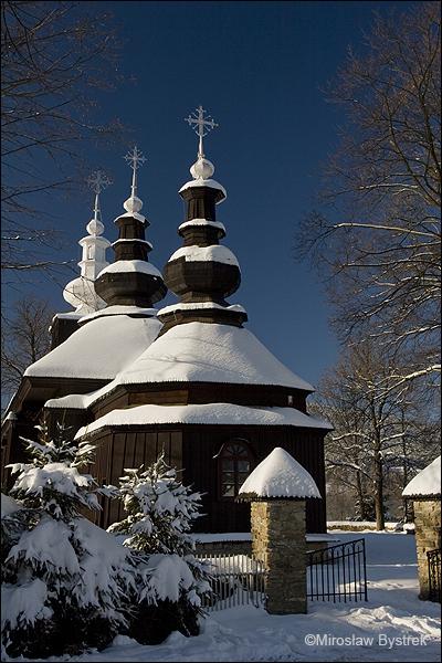 Brunary drewniana cerkiew łemkowska