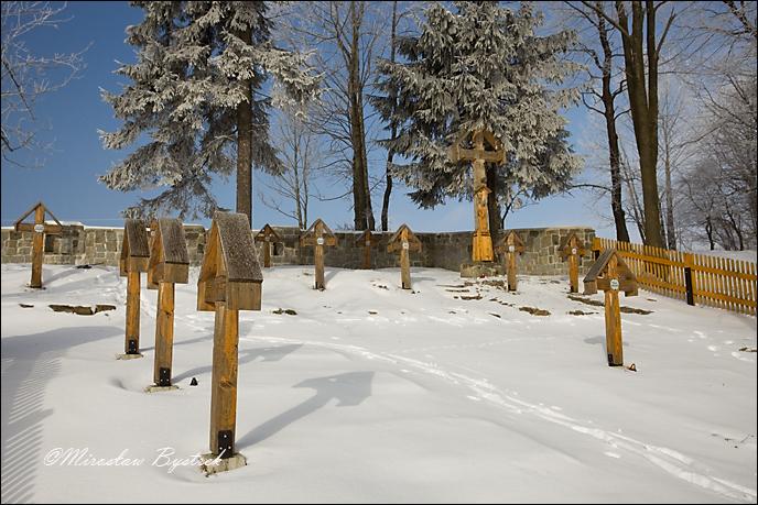 Kriegerfriedhof des I Weltkrieges Banica-Hugel, Galizien, Polen nach der Wiederherstellung