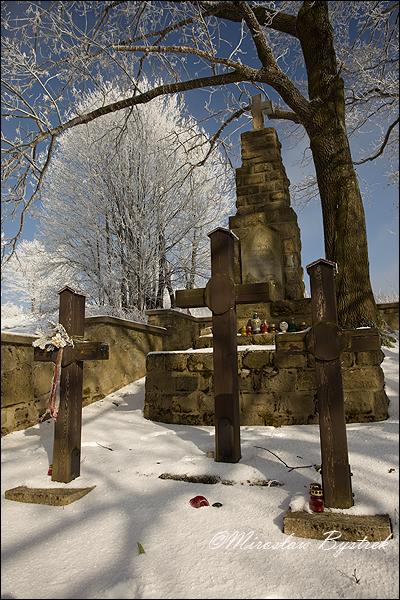 vojensky/vojnovy cintorin z 1. sv. vojny Zdynia w zapadnej Halici, Polsko
