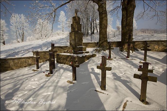 Kriegerfriedhof aus der I. Weltkrieg in Zdynia, West-Galizien, Polen