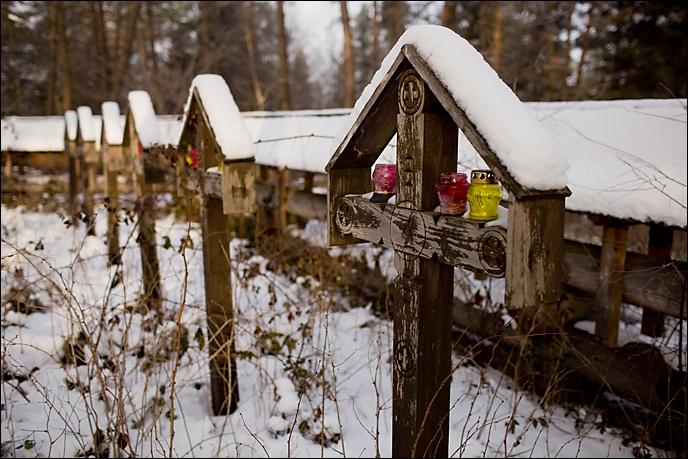 krzyże na grobach żołnierzy austriackich