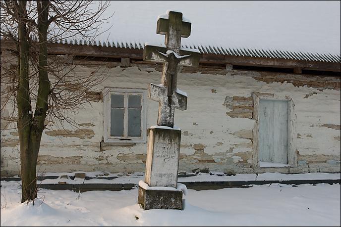 Beskid Niski Owczary krzyż przydrożny 3