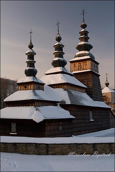 Owczary cerkiew zimą