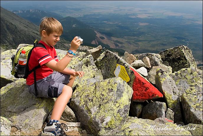 dziecko w Tatrach