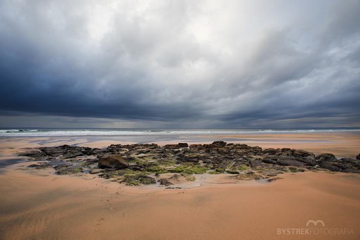 plaża i chmury