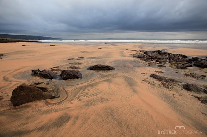 Fanore beach landscape