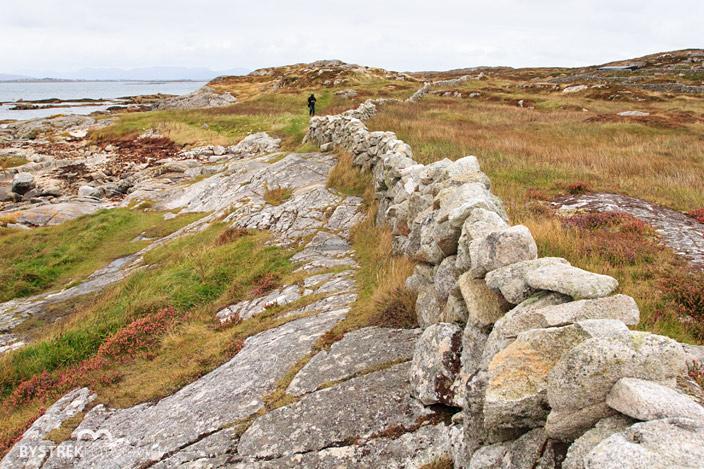 irlandzki krajobraz z murkami