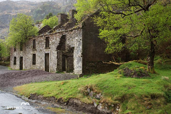 ruiny domu Irlandia