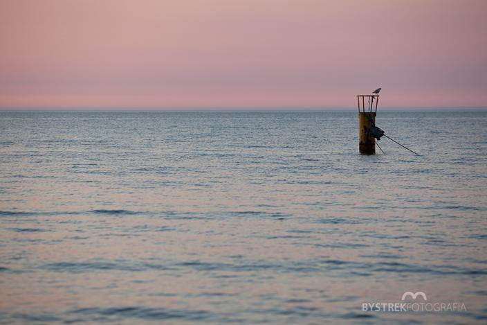 morze po zachodzie słońca