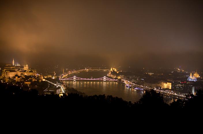Budapeszt panorama Wzgórze Gellerta